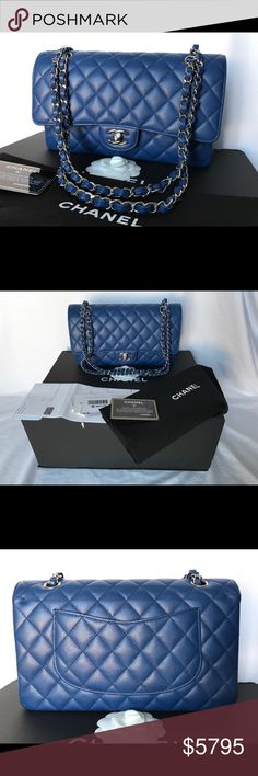 081f6018602760 2018 Cruise 18C Classic Double Flap Caviar Blue PRICE FIRM. More photos  available! $5,300 posh fees not included. 100% AUTHENTIC CHANEL 18C 2018  Cruise ...