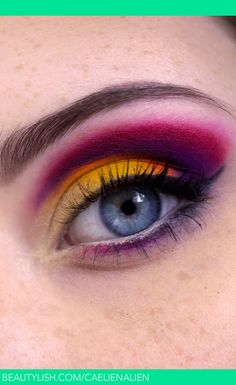 Colorful Cut-Crease | Caellen S.'s (caelienalien) Photo | Beautylish