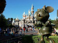 Minnie and Sleeping Beauty Castle #Disneyland