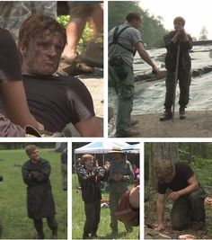 Josh behind the scene pics for The Hunger Games...