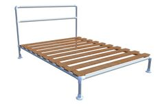 Pipe Bed Frame with pallets?