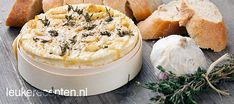 Camembert from the oven Dutch Recipes, Oven Recipes, Snack Recipes, Cooking Recipes, Recipies, Brie, Fondue, Salsa, Recipes