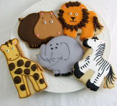 Jungle Safari Theme Baby Shower Cookie Favors