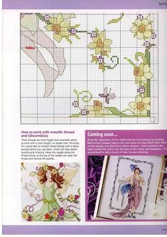 Spring Fairy - 5/5 Solo Patrones Punto Cruz   Aprender manualidades es facilisimo.com