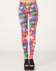 3205ac792ca Unique printed stretch cotton leggings in our hot pink geometric print. 80s  inspired with a comfy mid to low rise elasticated waist.