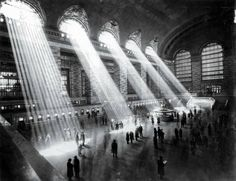 Grand Central Terminal NYC 1929. The sun can t shine through like that now due to the surrounding tall buildings.