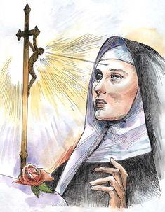 Santa Rita De Cascia, St Rita Of Cascia, Catholic Saints, Roman Catholic, Jesus Ressuscité, Oracion A Santa Rita, Sta Rita, Religion, Novena Prayers