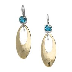 Cleo's fun elements create a synergy that is hard to resist. Colorful 5mm faceted gemstones, hand-hammered dangle, and comfortable Frechback earwires - all in one earring. Handcrafted in sterling silv