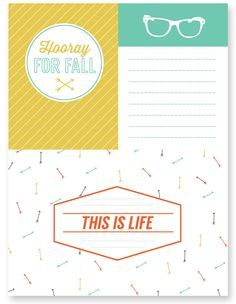 Use these free printable Fall journaling and filler cards to help document those Fall memories! Watch for more freebies like this one, available on the fifth of every month!