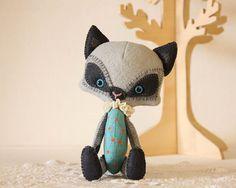 Sweet Little Kitty,  Custom Made Felt Pet, You choose SIZE & COLOR on Etsy, $80.00
