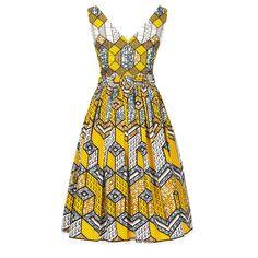 Nairobi Dress honeycomb yellow - Dresses - Spring Summer 2015 - Online Store - Lena Hoschek Online Shop