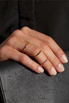 Jennifer Fisher|Mini Peak set of three gold-plated rings|NET-A-PORTER.COM