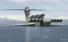Hybrid Ship/Plane that uses ground effect to travel at high speeds over the water