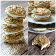 Carrot Cake Cookies. My hubby wants me to bake these bad boys. I think HE should bake them. He's always in the kitchen!
