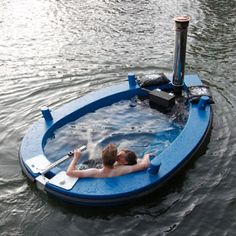 What's better than a hot tub? A hot tub that lesirely cruises around on the unforgiving open seas or just safely around a little romantic lake!