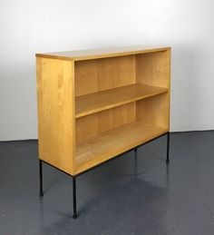 vintage paul mccobb planner group iron bookcase shelving mid century modern rare winchendon