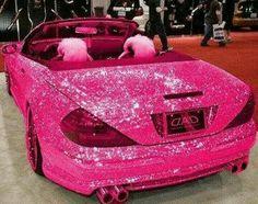 Pink bling bling car