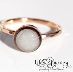 Breast Milk Jewelry - Breastmilk Ring; keepsake jewelry; https://www.lifesjourneyjewelrycreations.com/