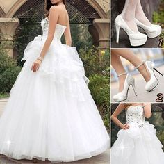 Delicate Strapless Sweetheart Neckline Lace-Up A-Line Floor Length Wedding Dress