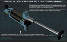 Phaser Rifle [Mid-22nd Century] Tech Readout [New] by unusualsuspex
