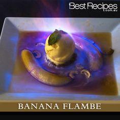 Banana Flambe recipe #dessert #romantic Cake Ingredients, Homemade Taco Seasoning, Homemade Tacos, Fancy Desserts, Delicious Desserts, Dessert Recipes, Banana Flambe Recipe, Fish Recipes, Recipes