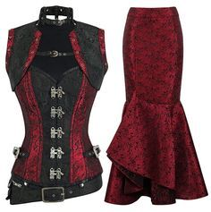 This authentic corset is great for steampunk cosplay or a night out on the town! Pair it with our fabulous skirts and heels for a complete look. Longer style for longer torsos 10 spiral steel bones, 6 Steampunk Corset, Steampunk Cosplay, Steampunk Clothing, Pirate Cosplay, Gothic Corset, Steampunk Necklace, Victorian Gothic, Gothic Lolita, Gothic Fashion
