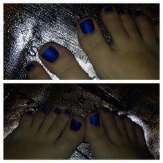 OPI Royal Blue Matte Manicure ~ OPI Blue My Mind, opi Matte Top Coat Nail Polish
