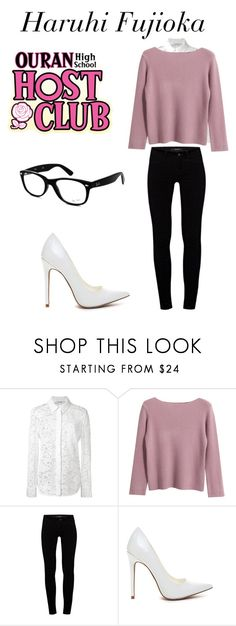 """""""Haruhi casual cosplay"""" by hjscheidl ❤ liked on Polyvore featuring Altuzarra, Chicnova Fashion, J Brand and Ray-Ban"""