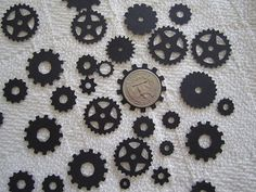 Just Gears Steampunk Confetti Party Decor by WhimseyDimples