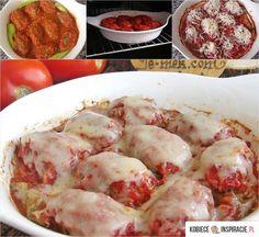 Pieczone mielone w sosie pomidorowym - Kobieceinspir… na Stylowi.pl Shrimp, Chicken, Meat, Ethnic Recipes, Food, Essen, Meals, Yemek, Eten