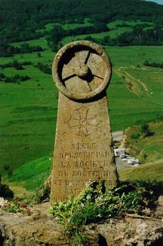 The Memorial to the murdered Cathars of Montségur near