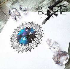 Galaxy geometric tattoo idea