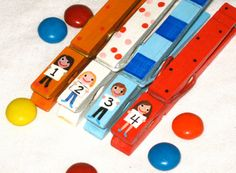 CHILDREN CLOTHESPINS with NUMBERS hand painted by SugarAndPaint, $11.00
