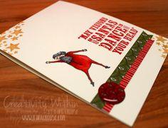 Visions of Santa - Stampin' Up All Things Christmas, Christmas Cards, Xmas, Dancing Santa, Fall Cards, Card Tags, Stampin Up, Card Ideas, Fun Ideas