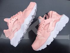 Rose Nike Huarache customs by JKLcustoms