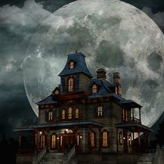 Illustration about A creepy haunted house with a weathered, vintage look for Halloween and other spooky occasions. Illustration of black, halloween, trees - 17485450 Real Haunted Houses, Creepy Houses, Spooky House, Halloween Haunted Houses, Haunted Mansion, Necronomicon Lovecraft, Harrison House, Halloween Horror Nights, Halloween Moon
