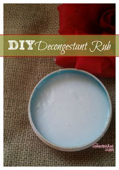 Make your own decongestant rub with Essential and Coconut oil to get relief from colds, coughs and congestion. The Homesteading Hippy #homesteadhippy #fromthefarm #essentialoils