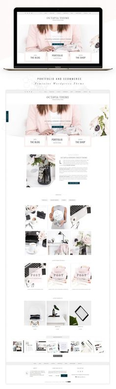 Portfolio eCommerce Genesis theme oc by Lovely Confetti on Creative Market - Wordpress Magazine Theme - Trending Magazine theme - Portfolio eCommerce Genesis theme oc by Lovely Confetti on Creative Market Website Layout, Blog Layout, Website Themes, Website Styles, Web Themes, Web Design Trends, Web Design Inspiration, Design Web, Blog Design