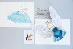 Home Parrot Image, Paper Birds, Bird Sculpture, Pretty Designs, Botanical Illustration, Mosaic, Cricut, Paper Crafts, Handmade