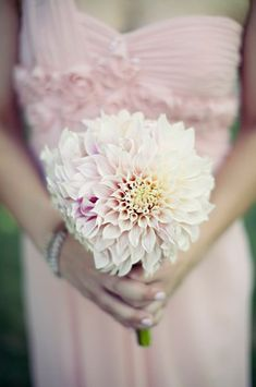 Simply elegant dahlia bouquet //// Photo by Clayton Austin, via Project Wedding