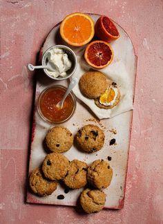 orange spelt scones