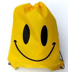 Face Drawstring Bag Mochila Swimming Bags School bags For Girls And Boys Cartoon Kids Backpack waterproof