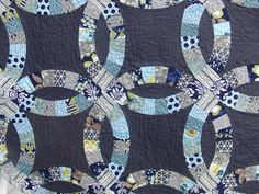 Finished Double Wedding Ring Quilt (Front) - Modern Meadow & Hope Valley by theplaidscottie, via Flickr