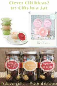 """Clever Gifts: Making gifts can be fun & stay within a budget, but w/ 50+ friends the wrong gift idea becomes a 12 month task. Our tip for this member question? Choose 3-4 variations to make in bulk. Whether it's treats, scrubs or decor, you're sure to cover every personality! Visit this awesome blog for 96 """"Gift Jar"""" ideas! http://tipjunkie.com/tutorial/gift-in-a-jar/ To help this member directly, go to dumblebee.com & tell us what you do! #clevergifts #dumblebee #gift #DIY #budget #Christmas"""
