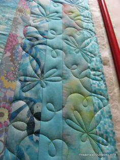 Love the dragonfly quilting!!