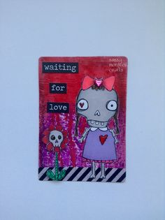 Sassy Monster Crafts: Skull Couple Altered Playing Cards