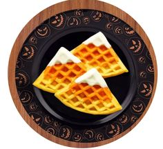 CANDY CORN WAFFLES. Need some ideas on what to make for a family breakfast or brunch? We've got some fun, easy-to-make, Halloween-inspired breakfast recipes that will brighten up your morning! Halloween Alley, Holidays Halloween, Halloween Themes, What To Make, Candy Corn, Some Fun, Waffles, Breakfast Recipes, Brunch