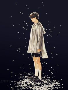 BTS fanart//from. Kai Arts, Exo Anime, Exo Fan Art, Exo Kai, Sehun, Fanarts Anime, Step By Step Drawing, Boy Fashion, Chibi