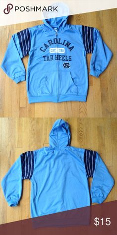 Like 🆕 Youth UNC Tar Heels Zip-Up Hoodie Team Athletics youth XL (14-16) University of North Carolina Tar Heels zip-up hoodie. Excellent condition. 100% polyester shell with fleece interior team athletics Shirts & Tops Sweatshirts & Hoodies