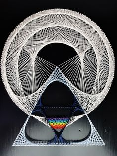Prism. Another String Art from 'Geometric Poetry' collection